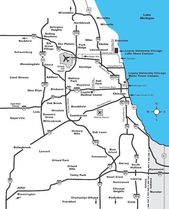 Chicago Area Pet Friendly Road Map by 1Click